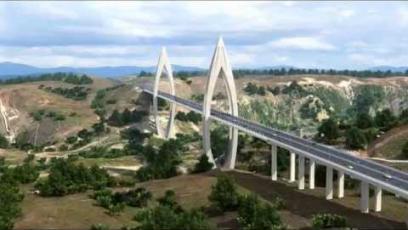 Le pont à haubans sur Oued Bouregrag